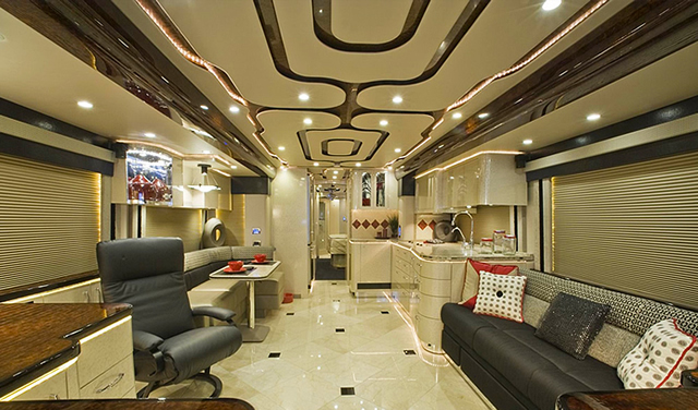 8 luxury coach interiors you wont believe the coach Tour bus interior design